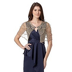 No. 1 Jenny Packham - Designer natural embellished shrug