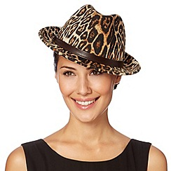 Top Hat by Stephen Jones - Designer natural leopard trilby hat