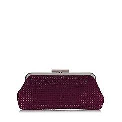 Debut - Purple rhinestone embellished clutch bag