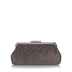 Debut - Grey rhinestone embellished clutch bag