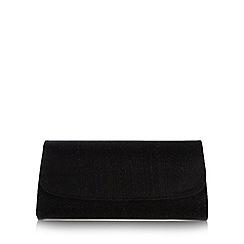 Debut - Black glitter clutch bag