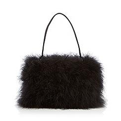 Top Hat by Stephen Jones - Designer black feather grab bag