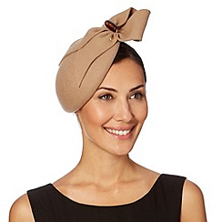 Top Hat by Stephen Jones - Designer camel gathered trim beret