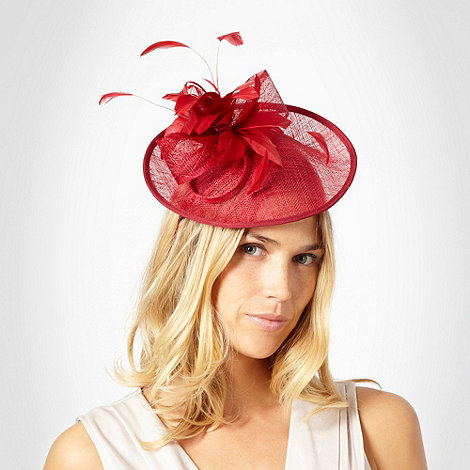 Hatbox - Red saucer hair piece