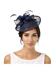 Navy Lamour saucer fascinator