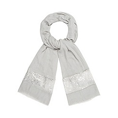 Debut - Grey sequin border pashmina