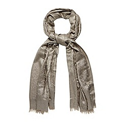 Debut - Grey metallic animal scarf