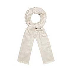 Debut - Cream metallic floral scarf