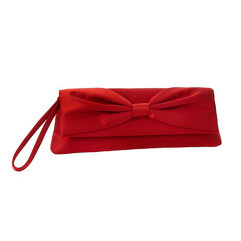 Debut - Red +lamour+ bow clutch bag
