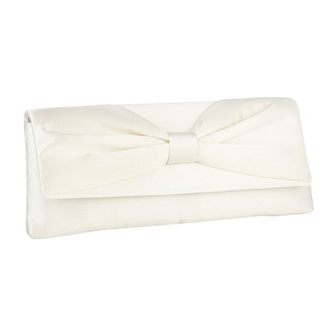 Debut - Ivory +lamour+ bow clutch bag