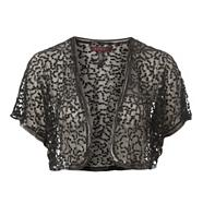 Black gathered sequin bolero