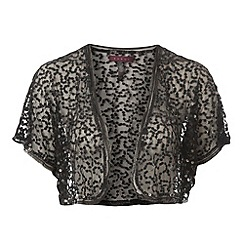 Debut - Black gathered sequin bolero