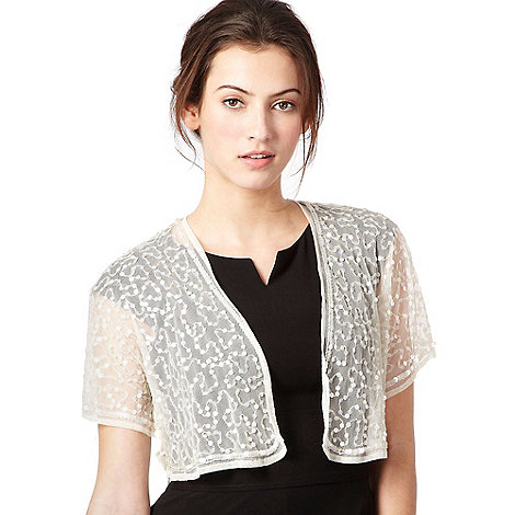 Debut - Ivory gathered sequin bolero