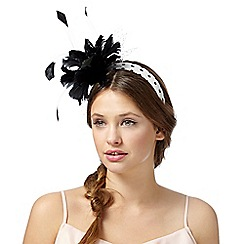 Floozie by Frost French - Black polka dot feather headband