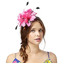 Floozie by Frost French - Pink feather pom pom headband