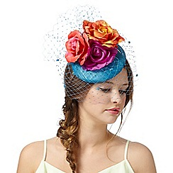 Floozie by Frost French - Blue floral button headband
