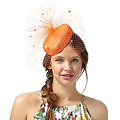 Floozie by Frost French - Orange veiled pom pom headband
