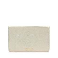 Floozie by Frost French - Gold metallic clutch bag