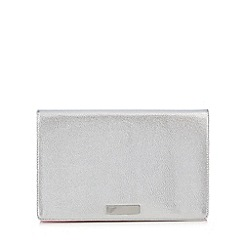 Floozie by Frost French - Silver metallic clutch bag