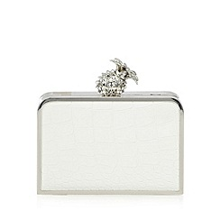 Floozie by Frost French - White mock croc pineapple clutch bag