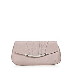Debut - Mauve metal edge clutch bag