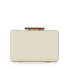 Debut - Cream soft spot minaudiere bag
