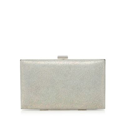 Debut Pale grey metallic clutch bag