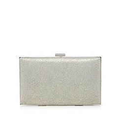 Debut - Pale grey metallic clutch bag