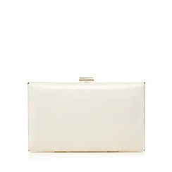 Debut - Ivory metallic clutch bag
