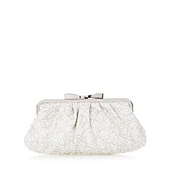 Floozie by Frost French - Silver metallic bow clutch bag