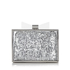 Floozie by Frost French - Acrylic boxy clutch bag with sequin inner pouch