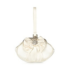 Debut - Cream diamante trim opera bag