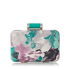 Debut - Green floral boxy clutch bag