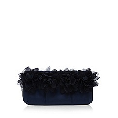 Debut - Navy floral clutch bag