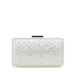 Debut - Ivory studded boxy clutch bag
