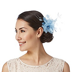 Debut - Pale blue triple flower hair clip