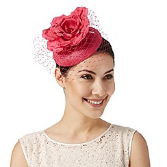 Debut - Bright pink flower button fascinator