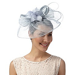 Debut - Pale blue floral bow fascinator