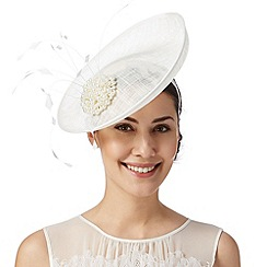 Debut - Ivory clustered pearl bead saucer fascinator