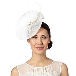 Floozie by Frost French - Ivory embellished disc fascinator