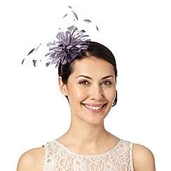 Debut - Mauve curled feather fascinator