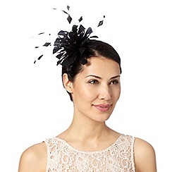 Debut - Black curled feather fascinator