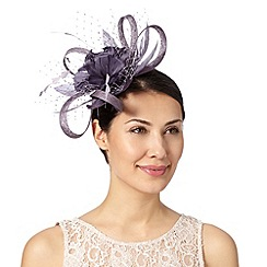 Debut - Mauve loop and mesh detail flower fascinator