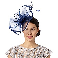 Debut - Designer navy curled quill fascinator