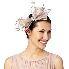 Debut - Natural metallic bow fascinator
