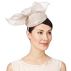 Debut - Natural metallic button bow fascinator