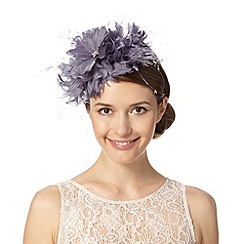 Debut - Mauve exploding feather corsage fascinator