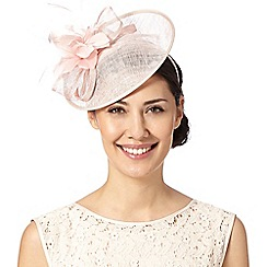 Debut - Light pink flower and bow saucer fascinator