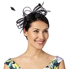 Debut - Black looped bow fascinator