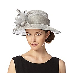 Hatbox - Grey feather and spiral trim hat